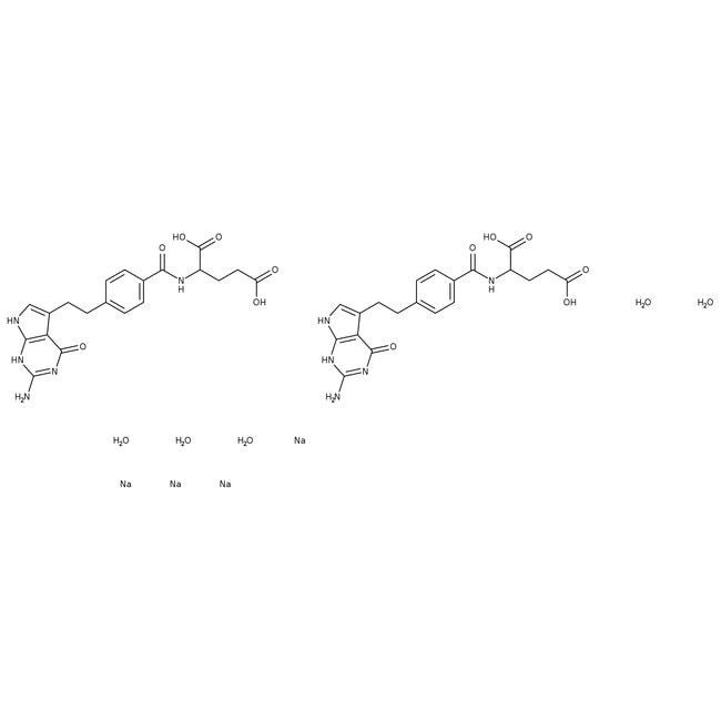 Pemetrexed disodium salt 2.5 hydrate, 98%, ACROS Organics™  Pemetrexed disodium salt 2.5 hydrate, 98%, ACROS Organics™