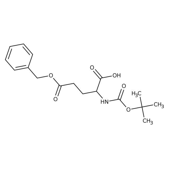 Alfa Aesar™N-Boc-D-glutamic acid 5-benzyl ester, 98% 5g Alfa Aesar™N-Boc-D-glutamic acid 5-benzyl ester, 98%