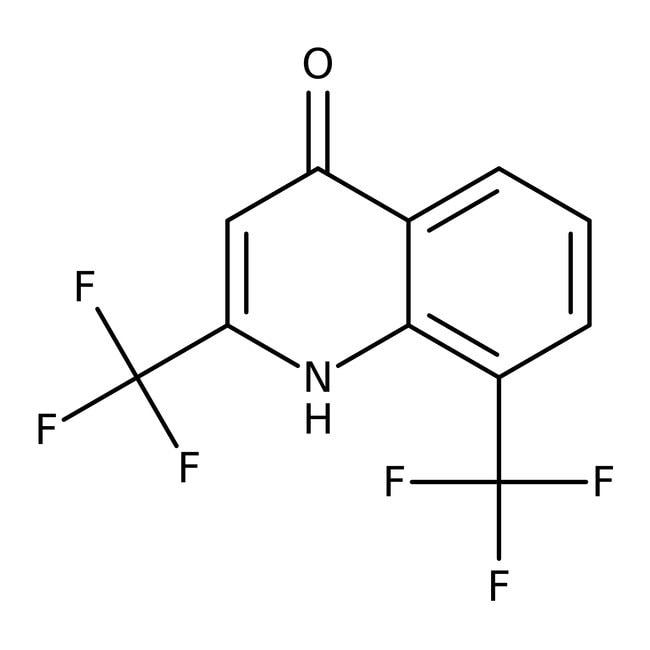 2,8-Bis(trifluoromethyl)-4-quinolinol, 99%, ACROS Organics™ 1g; Glass bottle 2,8-Bis(trifluoromethyl)-4-quinolinol, 99%, ACROS Organics™