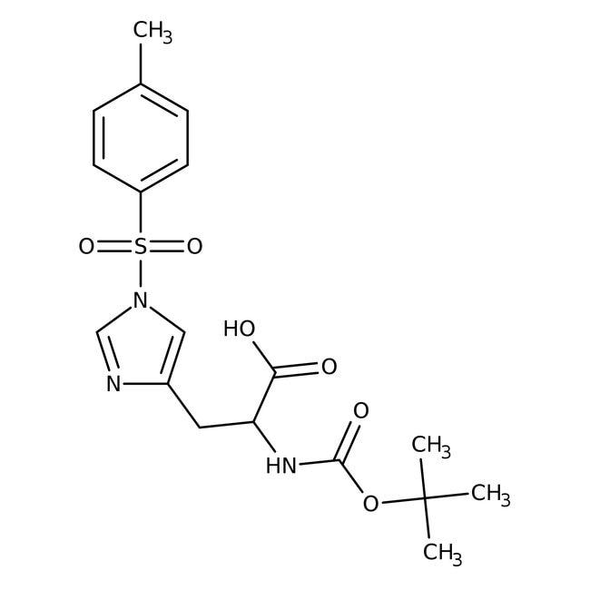 Alfa Aesar™N-Boc-1-(p-toluenesulfonyl)-L-histidine, 98% 5g Alfa Aesar™N-Boc-1-(p-toluenesulfonyl)-L-histidine, 98%