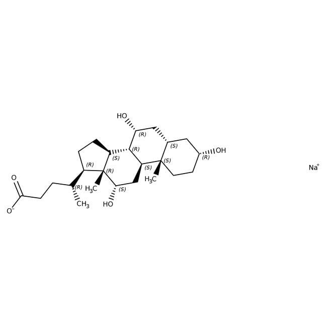 Cholic Acid Sodium Salt, ≥97% (dry basis), Ultrapure, Affymetrix/USB™ 1kg; Plastic bottle Ver productos