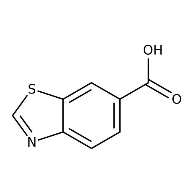 Benzothiazole-6-carboxylic acid, 96%, ACROS Organics™ 25g Benzothiazole-6-carboxylic acid, 96%, ACROS Organics™