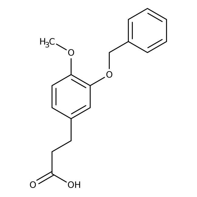 Alfa Aesar™3-(3-Benzyloxy-4-methoxyphenyl)propionic acid, 96% 1g prodotti trovati