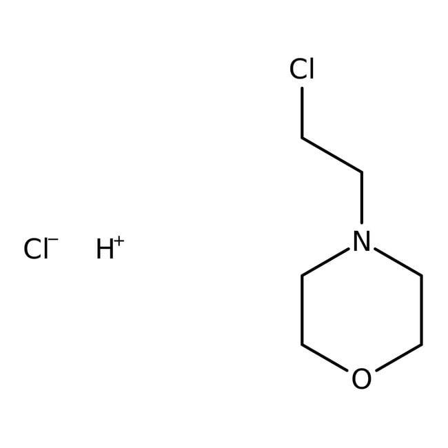 N-(2-Chloroethyl)morpholine hydrochloride, 99%, Acros Organics 100g; Glass bottle N-(2-Chloroethyl)morpholine hydrochloride, 99%, Acros Organics