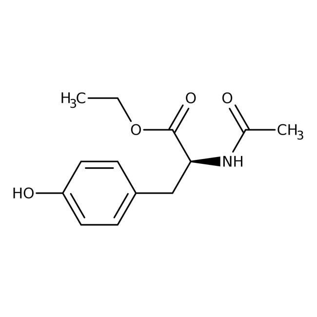N-Acetyl-L-tyrosine ethyl ester monohydrate, 99%, ACROS Organics™ 10g; Glass bottle N-Acetyl-L-tyrosine ethyl ester monohydrate, 99%, ACROS Organics™
