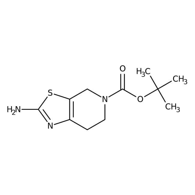 tert-Butyl 2-amino-6,7-dihydro[1,3]thiazolo[5,4-c]pyridine-5(4H)-carboxylate, 97%, ACROS Organics™