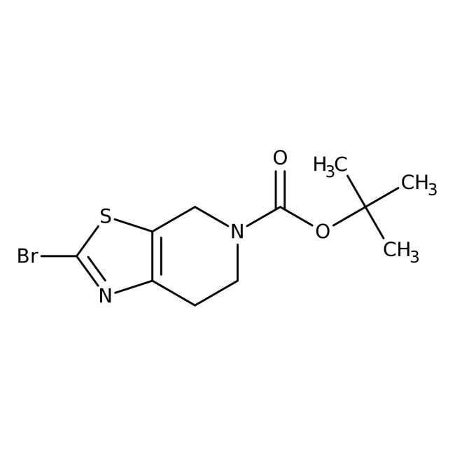 tert-Butyl 2-bromo-6,7-dihydro[1,3]thiazolo[5,4-c]pyridine-5(4H)-carboxylate, 97%, Acros Organics™  tert-Butyl 2-bromo-6,7-dihydro[1,3]thiazolo[5,4-c]pyridine-5(4H)-carboxylate, 97%, Acros Organics™