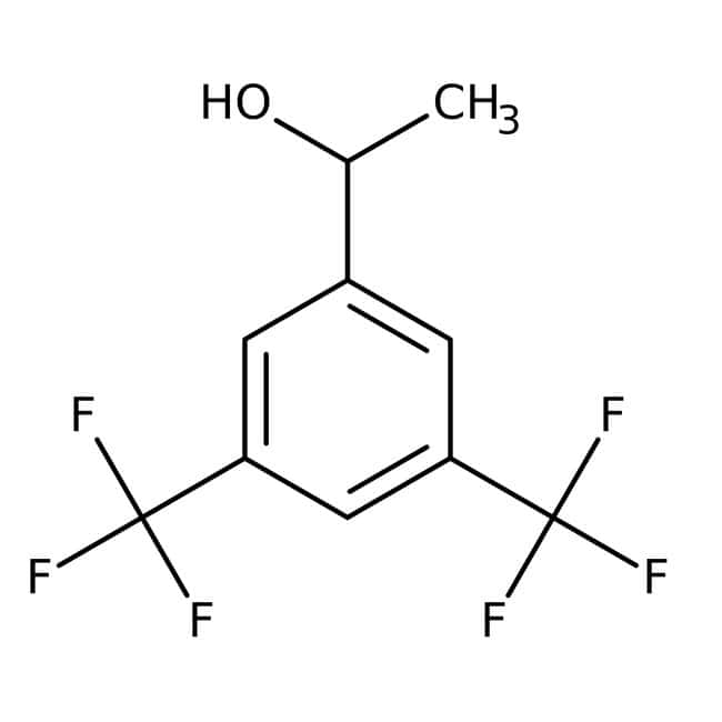 1-[3,5-Bis(trifluorométhyl)phényl]éthanol, 98%, Alfa Aesar™ 25g 1-[3,5-Bis(trifluorométhyl)phényl]éthanol, 98%, Alfa Aesar™