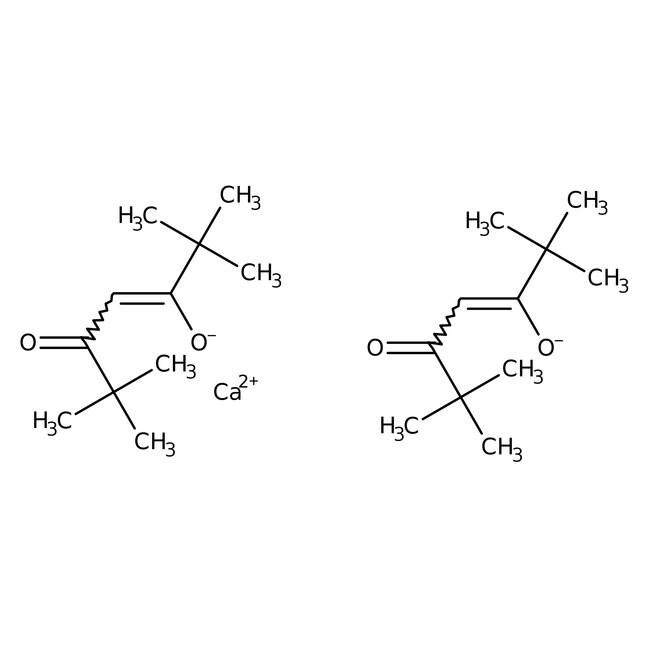 Alfa Aesar™Bis(2,2,6,6-tetramethyl-3,5-heptanedionato)calcium(II), 99.99% (metals basis) 10g Alfa Aesar™Bis(2,2,6,6-tetramethyl-3,5-heptanedionato)calcium(II), 99.99% (metals basis)