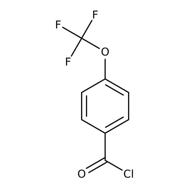 4-(Trifluoromethoxy)benzoyl chloride, 98%, ACROS Organics™ 5g; Glass bottle 4-(Trifluoromethoxy)benzoyl chloride, 98%, ACROS Organics™