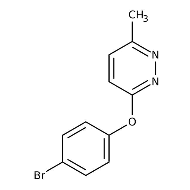 3-(4-Bromphenoxy)-6-Methylpyridazin, 97%, Maybridge Braunglasflasche, 1g 3-(4-Bromphenoxy)-6-Methylpyridazin, 97%, Maybridge
