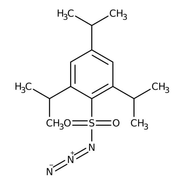 2,4,6-Triisopropylbenzenesulfonyl azide, 97%, contains 15% water as stabilizer, Acros Organics