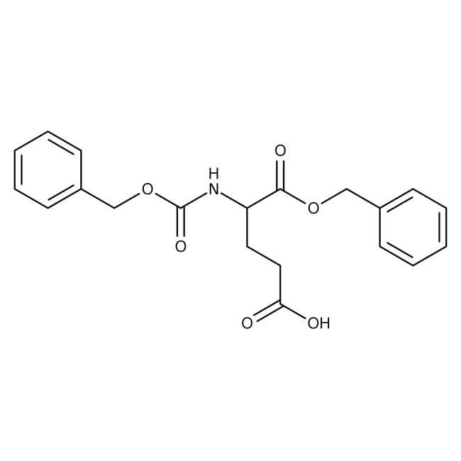 Alfa Aesar™N-Benzyloxycarbonyl-L-glutamic acid 1-benzyl ester, 95% 25g Alfa Aesar™N-Benzyloxycarbonyl-L-glutamic acid 1-benzyl ester, 95%