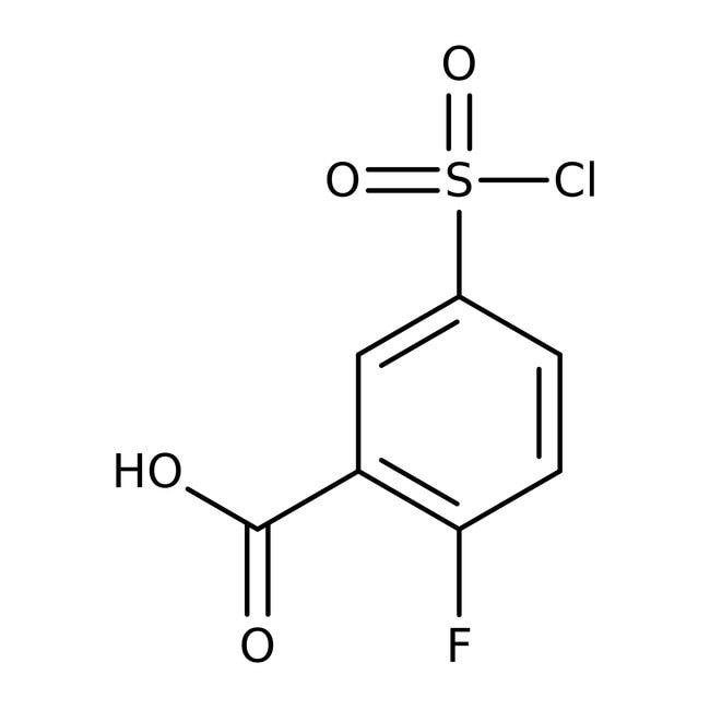 5-(chlorosulfonyl)-2-fluorobenzoic acid, 97%, ACROS Organics™