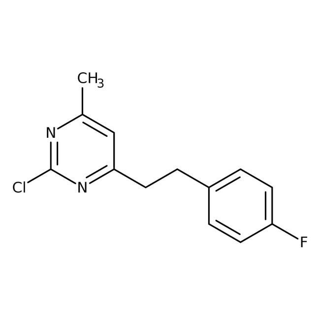 2-Chloro-4-[2-(4-fluorophenyl)ethyl]-6-methylpyrimidine, 97%, Alfa Aesar™ 250mg 2-Chloro-4-[2-(4-fluorophenyl)ethyl]-6-methylpyrimidine, 97%, Alfa Aesar™