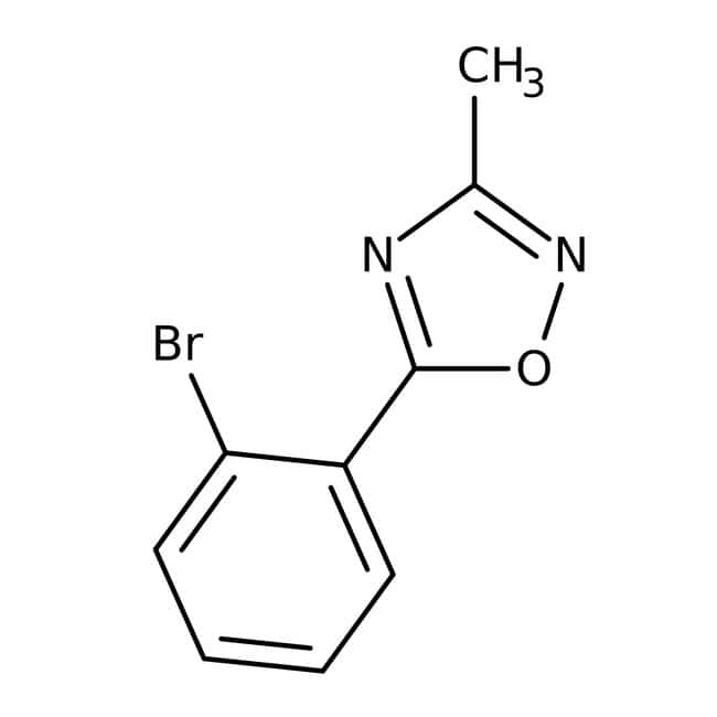 5-(2-Bromophenyl)-3-methyl-1,2,4-oxadiazole 97+%, Maybridge: Halobenzenes Benzene and substituted derivatives