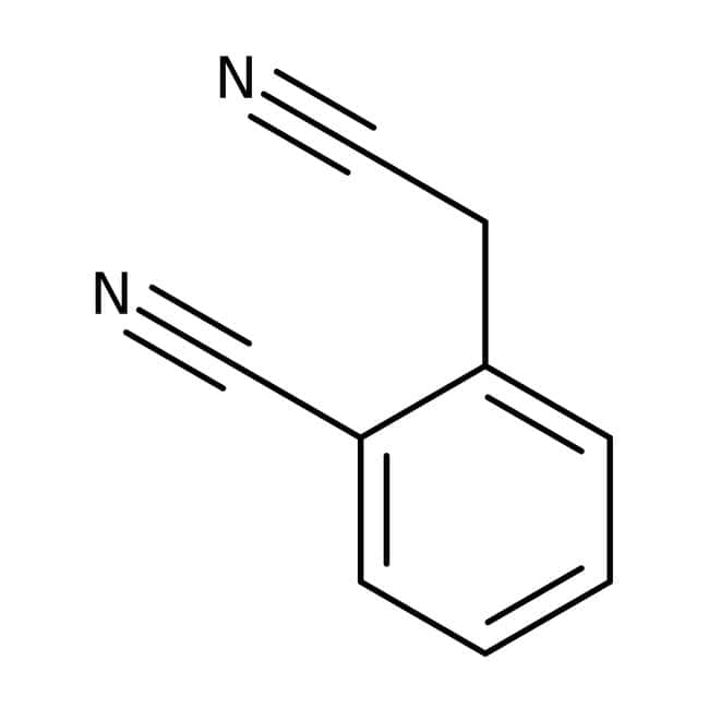 alpha-Cyano-o-tolunitrile, 80%, Acros Organics 25g; Glass bottle alpha-Cyano-o-tolunitrile, 80%, Acros Organics