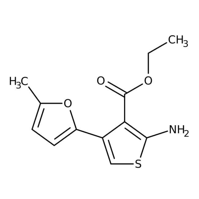 Alfa Aesar™Ethyl 2-amino-4-(5-methyl-2-furyl)thiophene-3-carboxylate, 96% 250mg Alfa Aesar™Ethyl 2-amino-4-(5-methyl-2-furyl)thiophene-3-carboxylate, 96%