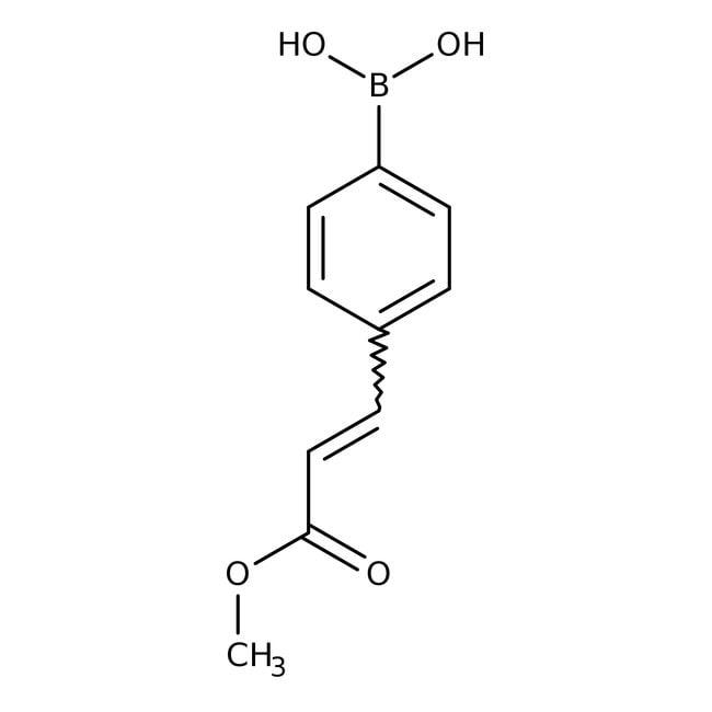 Alfa Aesar™4-(trans-3-Methoxy-3-oxo-1-propen-1-yl)benzeneboronic acid, 97% 250mg Alfa Aesar™4-(trans-3-Methoxy-3-oxo-1-propen-1-yl)benzeneboronic acid, 97%