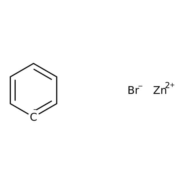 Alfa Aesar™Phenylzinkbromid, 0.5M in THF, verpackt unter Argon in wiederverschließbaren ChemSeal™ Flaschen 50ml Organic metal bromide salts