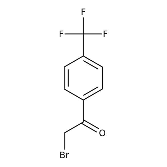 2-Bromo-1-[4-(trifluoromethyl)phenyl]ethan-1-one, Tech., Maybridge Amber Glass Bottle; 10g 2-Bromo-1-[4-(trifluoromethyl)phenyl]ethan-1-one, Tech., Maybridge
