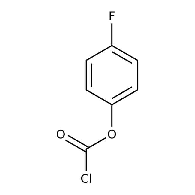 4-Fluorophenyl chloroformate, 98%, ACROS Organics™ 1g; Glass bottle 4-Fluorophenyl chloroformate, 98%, ACROS Organics™