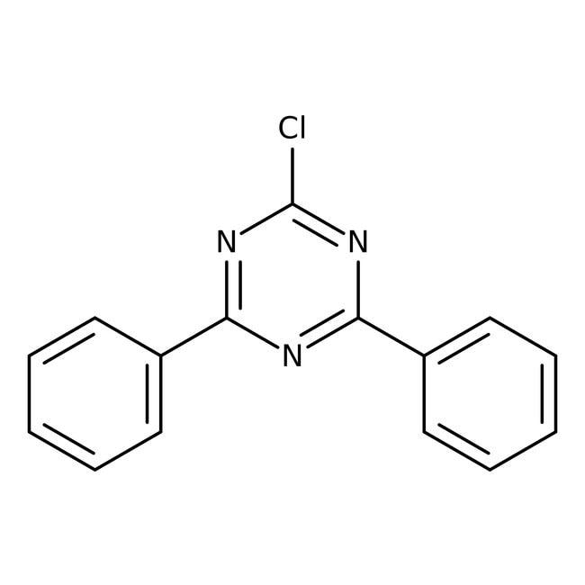 Alfa Aesar™2-Chloro-4,6-diphenyl-1,3,5-triazine, 97% 5g Alfa Aesar™2-Chloro-4,6-diphenyl-1,3,5-triazine, 97%