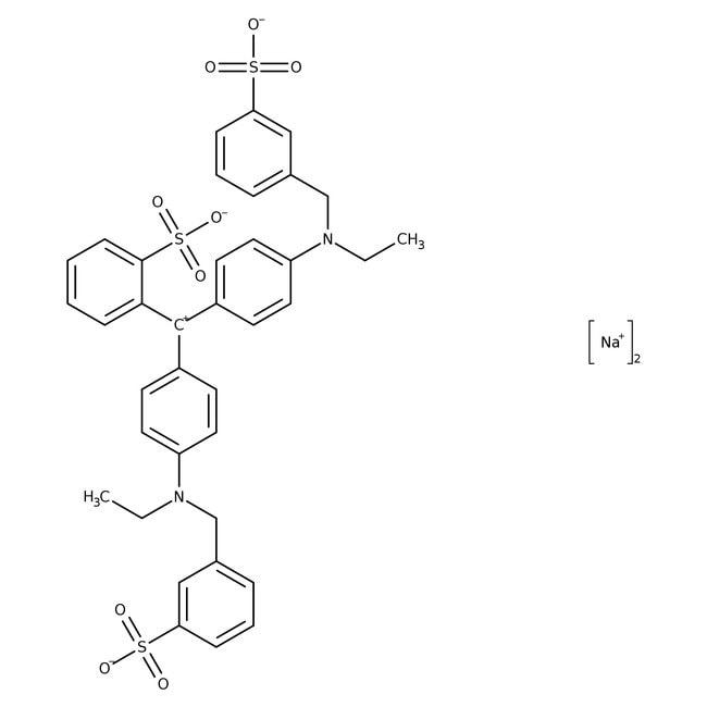 Erioglaucine disodium salt, pure, ACROS Organics™ 5g; Glass bottle Erioglaucine disodium salt, pure, ACROS Organics™