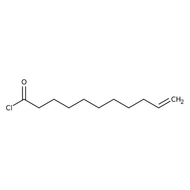 10-Undecenoyl chloride, 98%, ACROS Organics™ 100mL; Glass bottle 10-Undecenoyl chloride, 98%, ACROS Organics™
