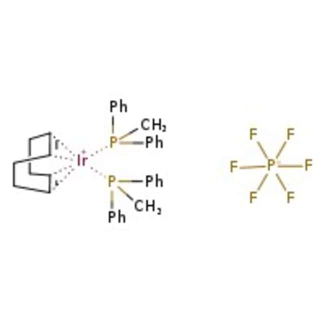 (1,5-cyclooctadiene)bis(methyldiphenylphosphine)iridium(I) Hexafluorophosphate, 97%, ACROS Organics
