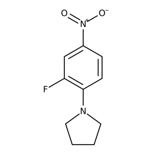 Alfa Aesar™1-(2-Fluor-4-nitrophenyl)-pyrrolidin, 97% 250mg Alfa Aesar™1-(2-Fluor-4-nitrophenyl)-pyrrolidin, 97%