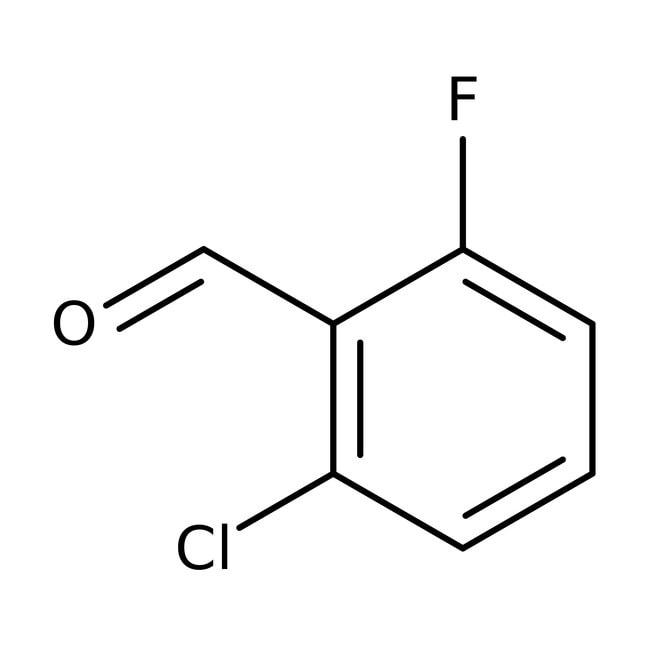 2-chloro-6-fluorobenzaldehyde, 95%, ACROS Organics™ 100g; Glass bottle 2-chloro-6-fluorobenzaldehyde, 95%, ACROS Organics™