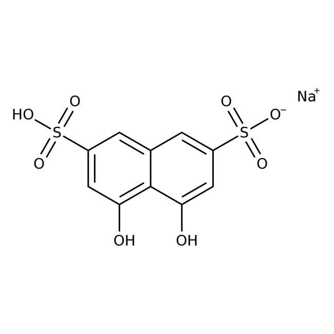 Chromotropic Acid Sodium Salt (Tech.), 60%, ACROS Organics™ 250g; Glass bottle Chromotropic Acid Sodium Salt (Tech.), 60%, ACROS Organics™