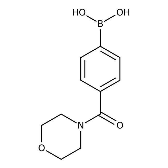 Alfa Aesar™4-(4-Morpholinylcarbonyl)benzeneboronic acid, 98%: Chemicals Products