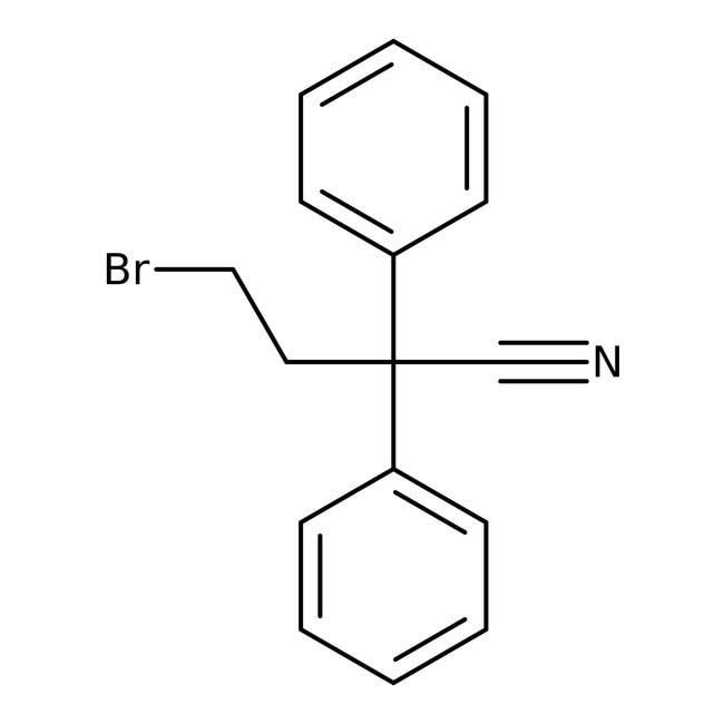 Alfa Aesar™4-Bromo-2,2-diphenylbutyronitrile, 95% 100g Alfa Aesar™4-Bromo-2,2-diphenylbutyronitrile, 95%