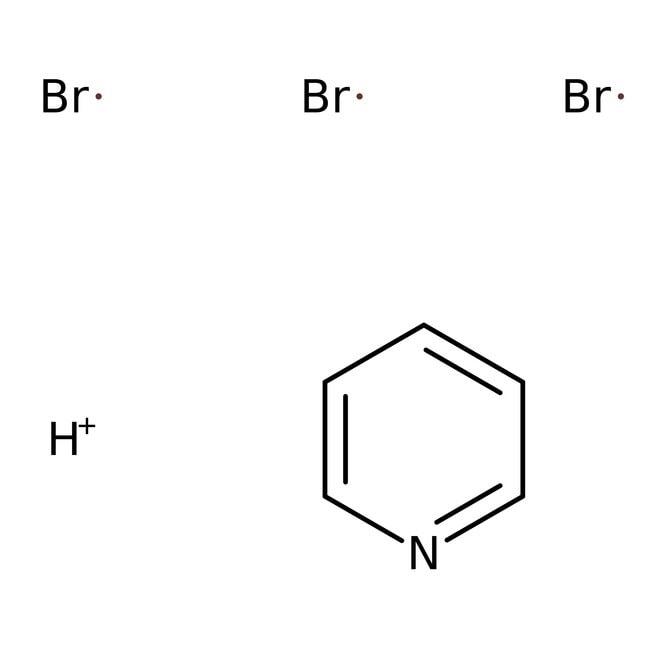 Pyridinium bromide perbromide, 90+%, technical, ACROS Organics™ 100g; Glass bottle Pyridinium bromide perbromide, 90+%, technical, ACROS Organics™