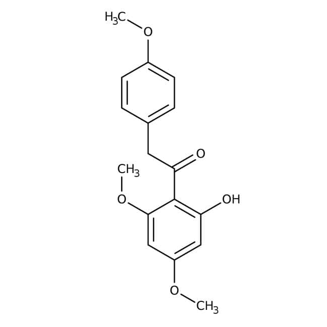 2′-Hydroxy-4′,6′-dimethoxy-2-(4-methoxyphenyl)acetophenone 98.0+%, TCI America™