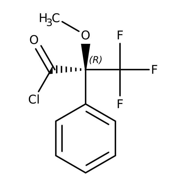 (R)-(-)-alpha-Methoxy-alpha-(trifluoromethyl)phenylacetyl chloride, 98+%, ACROS Organics™