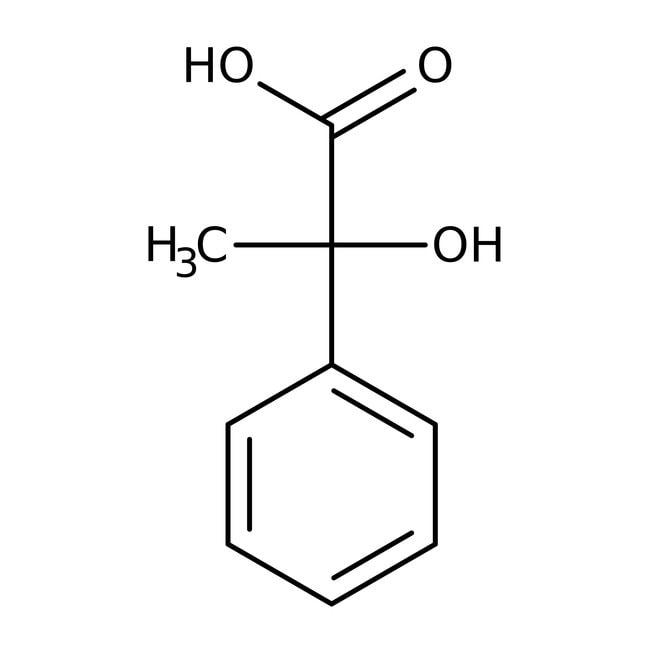 Alfa Aesar™Acide (R)-(-)-2-hydroxy-2-phénylpropionique, 98+% 1g Alfa Aesar™Acide (R)-(-)-2-hydroxy-2-phénylpropionique, 98+%