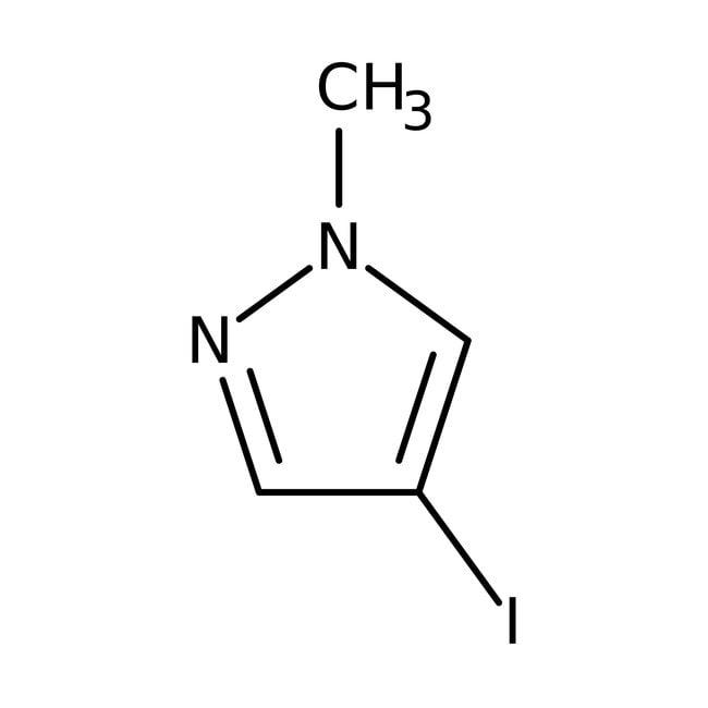 1-Methyl-4-iodo-1H-pyrazole, 97%, ACROS Organics™ 5g; Glass bottle 1-Methyl-4-iodo-1H-pyrazole, 97%, ACROS Organics™