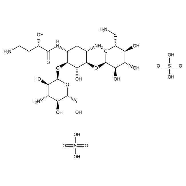 Amikacin disulfate salt, ACROS Organics™ 5g Amikacin disulfate salt, ACROS Organics™