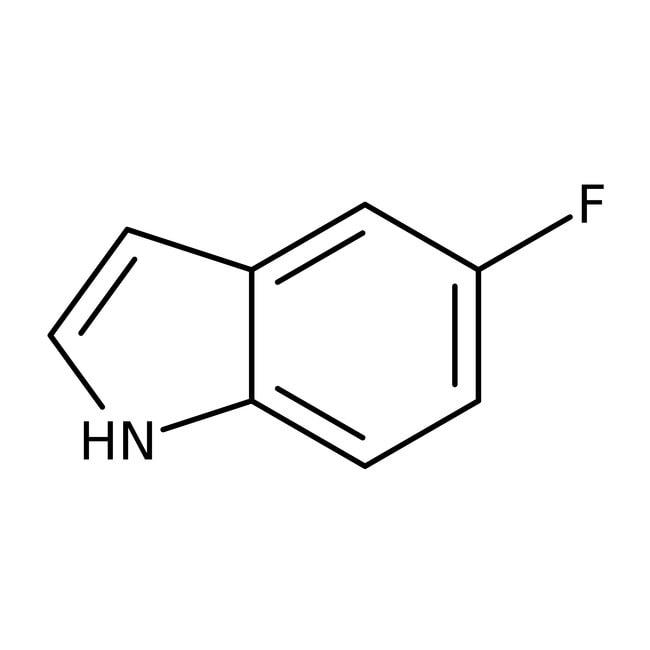 5-fluoroindole, 98%, ACROS Organics 25g, flacon de verre 5-fluoroindole, 98%, ACROS Organics