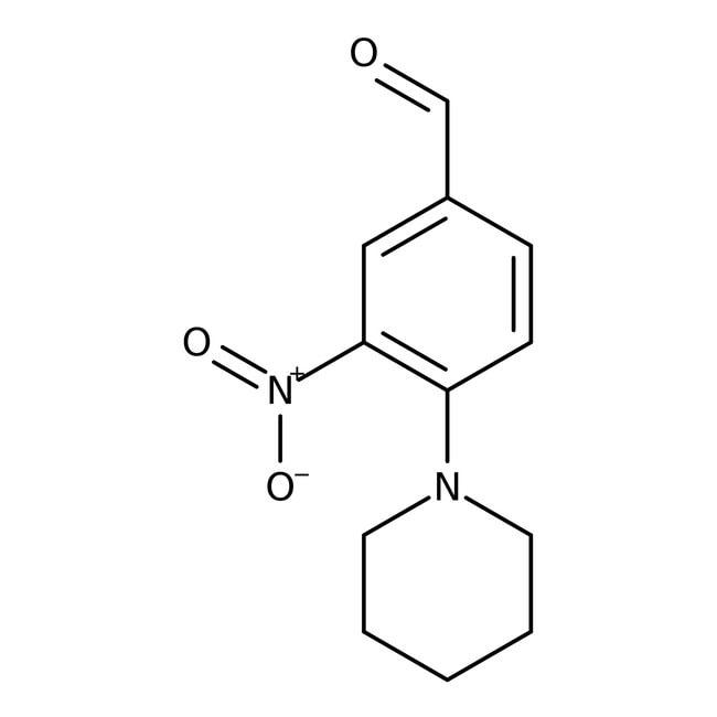 Alfa Aesar™3-Nitro-4-(1-piperidinil)benzaldehído, 96% 5g Alfa Aesar™3-Nitro-4-(1-piperidinil)benzaldehído, 96%