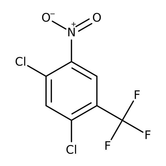 Alfa Aesar™2,4-Dicloro-5-nitrobenzotrifluoruro, 97% 100g Alfa Aesar™2,4-Dicloro-5-nitrobenzotrifluoruro, 97%