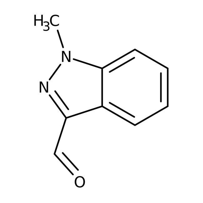 1-Methyl-1H-indazole-3-carbaldehyde, 97%, Maybridge™ Amber Glass Bottle; 1g 1-Methyl-1H-indazole-3-carbaldehyde, 97%, Maybridge™