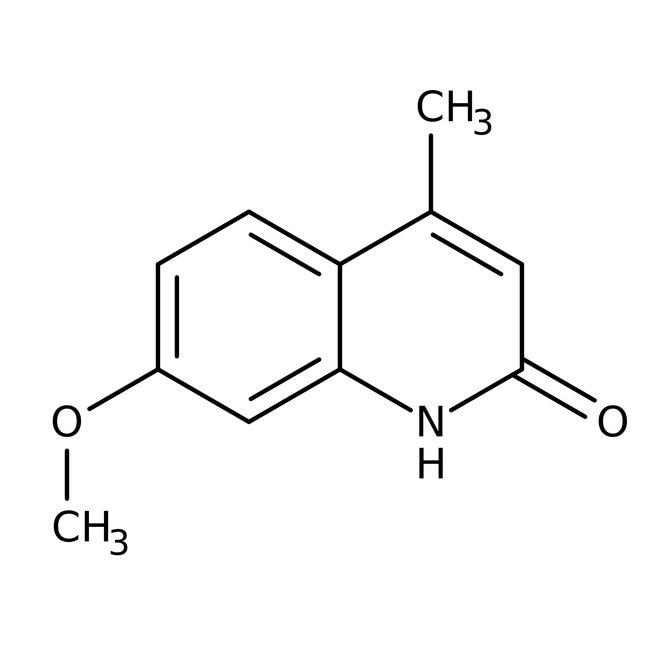 Alfa Aesar™7-Methoxy-4-methyl-2(1H)-chinolinon, 96% 1g Alfa Aesar™7-Methoxy-4-methyl-2(1H)-chinolinon, 96%