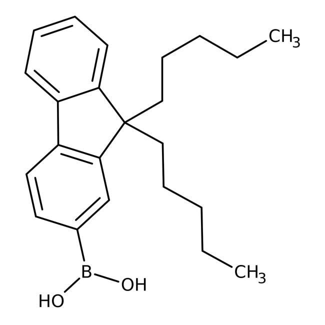 Alfa Aesar™9,9-Di-n-pentylfluorene-2-boronic acid, 97%