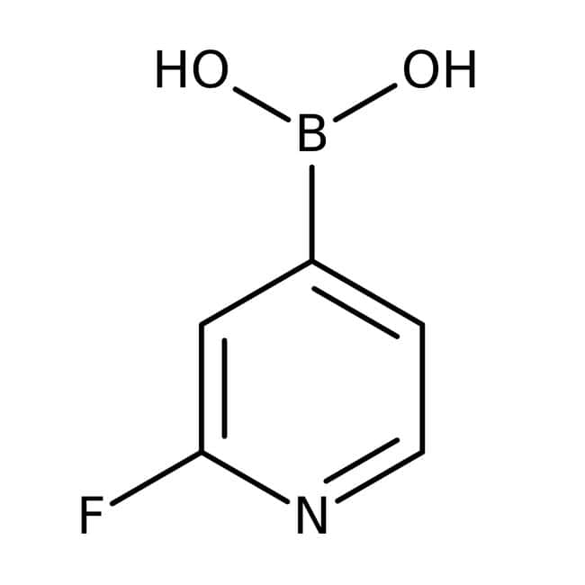 2-Fluoropyridine-4-boronic acid, 98%, Acros Organics 1g, Glass bottle 2-Fluoropyridine-4-boronic acid, 98%, Acros Organics