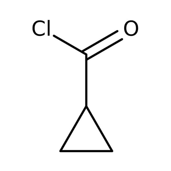 Cyclopropanecarboxylic acid chloride, 98%, ACROS Organics™ 25g; Glass bottle Cyclopropanecarboxylic acid chloride, 98%, ACROS Organics™