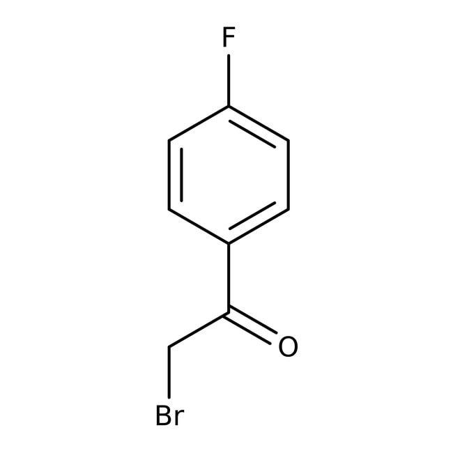 2-Bromo-4'-fluoroacetophenone, 98%, ACROS Organics™ 25g; Glass bottle 2-Bromo-4'-fluoroacetophenone, 98%, ACROS Organics™